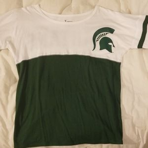 Michigan State 3/4 sleeve tshirt